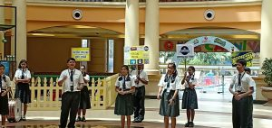 Street play on Social Media and Cyber safety at Growels 101 Mall