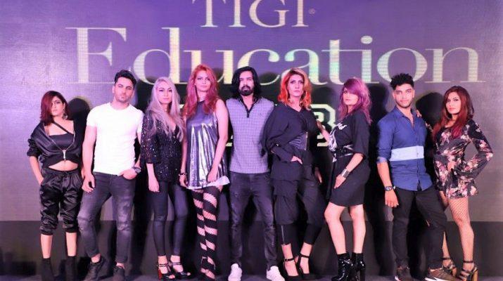 TIGI Backstage Heroes in Delhi unveiling the new TIGI Retrospective Collection