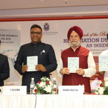 Union Minister Hardeep Singh Puri launches book on WTO written by former Indian WTO negotiator Dr Mohan Kumar