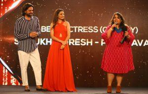 Winner Sumukhi Suresh at News18 iReel Awards