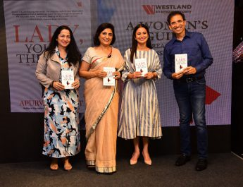 L-R - Kiran Manral - Apurva Purohit - Rasika Dugal - Harsha Bhogle at the launch of Lady You are The Boss