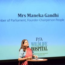 """""""If you remove wildlife from the city, you will lose all your flowers and trees, and your air"""" – Mrs Maneka Gandhi"""