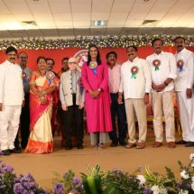 Badminton Champion P.V. Sindhu felicitated by Dr. Ramineni Foundation