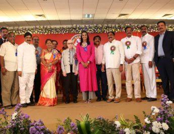 Badminton Champion P V Sindhu felicitated by Dr Ramineni Foundation
