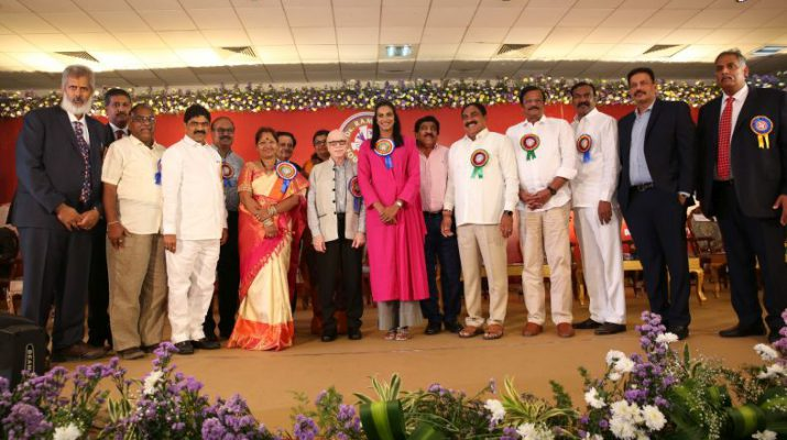 Badminton Champion P V Sindhu felicitated by Dr Ramineni Foundation