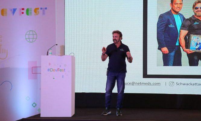 Bruce Schwack - Directer of communications - Netmeds at Google Devfest 2019 - Pune
