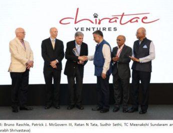 Chiratae Ventures felicitates Mr Ratan N Tata with the Chiratae Ventures Patrick J McGovern Lifetime Achievement Award 2019