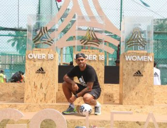 Former Indian footballer - Robin Singh launches adidas Tango League in Mumbai