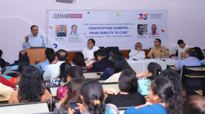 IIHMR ushers in awareness on the intricacies and complications of Diabetes on its 35th Foundation Day