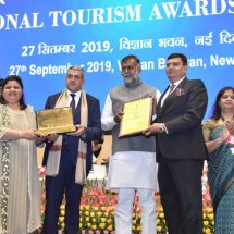 Jaypee Greens Golf and Spa Resorts awarded with Hall of Fame Award (2017-18)-Best Tourism Friendly Golf Course by Ministry of Tourism, Govt. of India