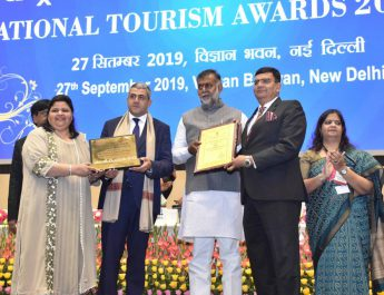 Jaypee Greens Golf and Spa Resorts awarded with Hall of Fame Award 2017-18 - Best Tourism Friendly Golf Course by Ministry of Tourism - Government of India