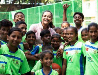 Mamangam star Prachi Tehlan celebrates birthday playing basketball with underprivileged kids