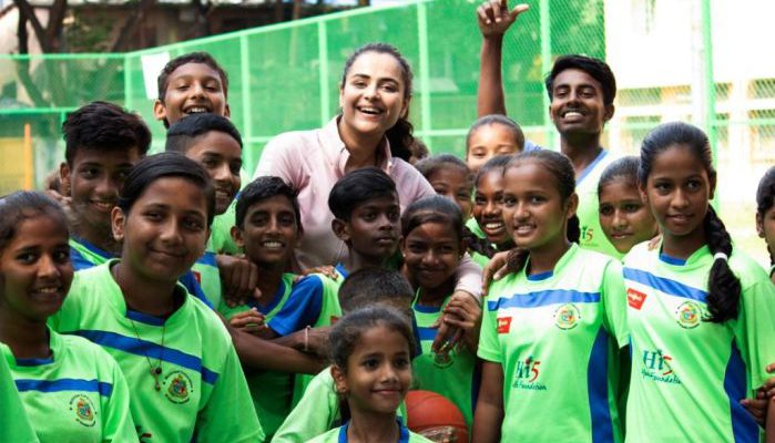 Mamangam star Prachi Tehlan celebrates birthday playing basketball with underprivileged kids