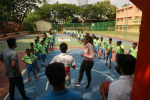 Mamangam star Prachi Tehlan celebrates birthday playing basketball with underprivileged kids Hi5 Youth Foundation NGO