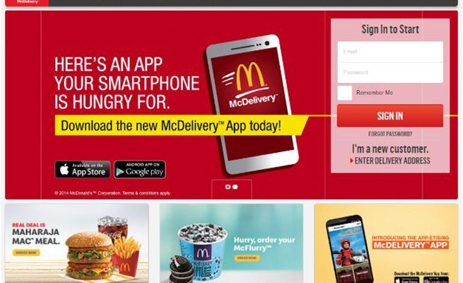 McDonalds relaunches online food ordering service McDelivery with exclusive deals in North and East India