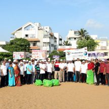 Plastic Free India Campaign at Besant Nagar beach by IOB