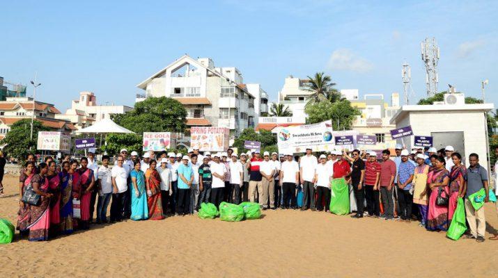 Plastic Free India Campaign at Besant Nagar Beach by IOB