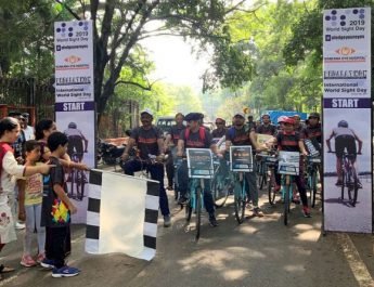 Sankara Eye Hospital organizes Pedalathon to create awareness on Eye Donation on International World Sight Day