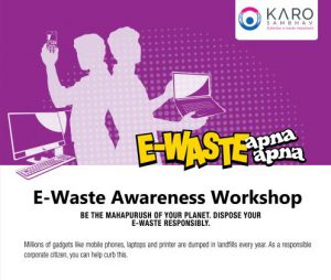 Adcom India to Recycle e-Waste in Association with Karo Sambhav - Awareness Poster