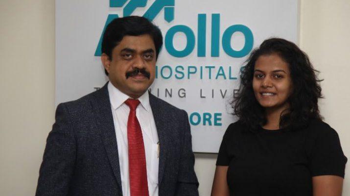 Bhagyashree with Dr Raviraj Nayak - Senior consultant and Orthopedic Surgeon