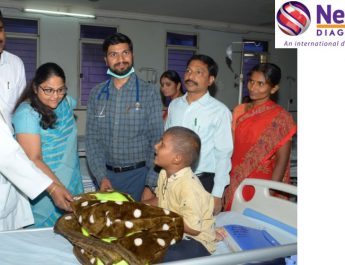 L to R - Dr Nirmala - RMO Dr Smitha - Neuberg Diagnostics Dr Vishal and Dr Srinivas