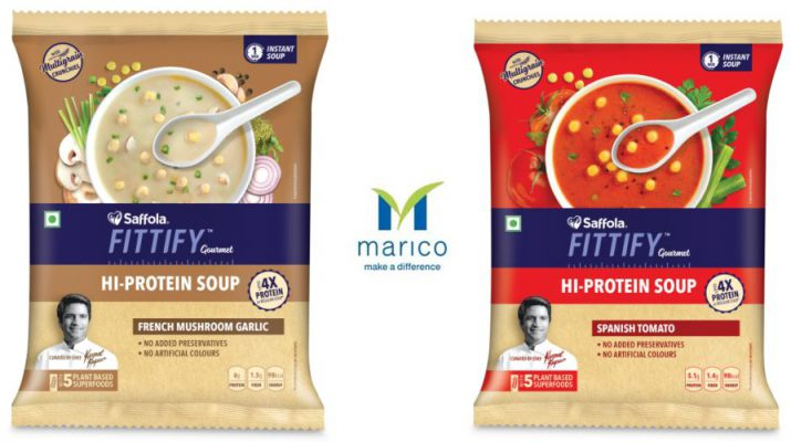 Maricos Saffola Fittify Gourmet launches convenient pack sizes of its healthy range of Hi-Protein 2 Soup Range
