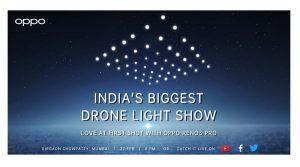 OPPO brings Indias biggest Drone Light Show to Mumbai