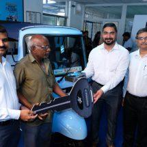 Piaggio launches Ape' E-City in Vijayawada