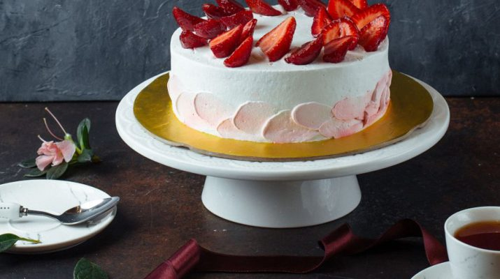 White creamy cake with strawberries Recipe - Chef Shivanand Kain - Senior Executive Chef - Jaypee Greens Golf and Spa Resort