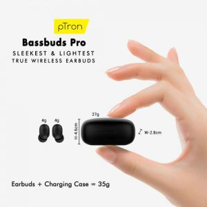 pTron Launches Bassbuds Pro Sleekest and Lightest Power-packed TWS 2