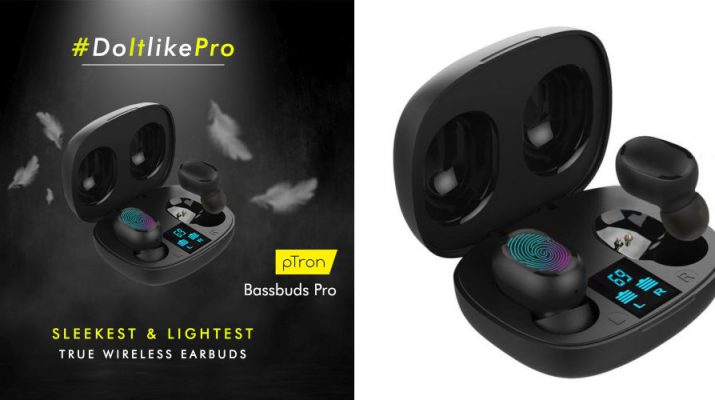 pTron Launches Bassbuds Pro Sleekest and Lightest Power-packed TWS Large