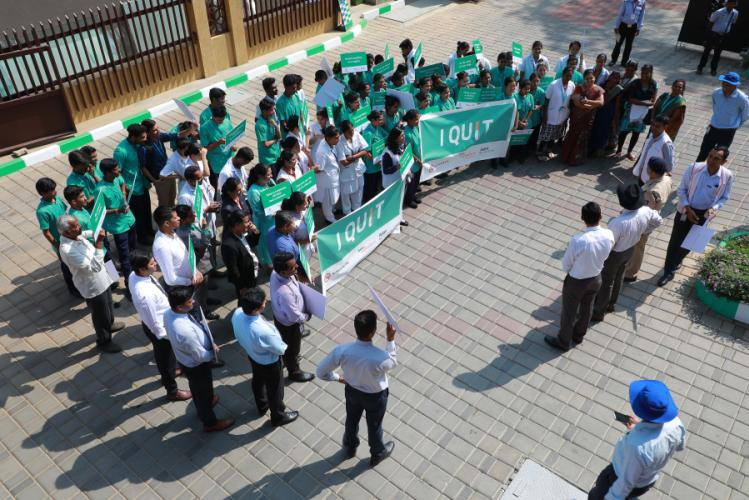 ACP Ramesh addressing students