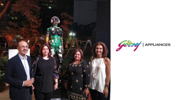 Adi Godrej and Tanya Dubash at Godrej Appliances TheNonThinkingHuman installation
