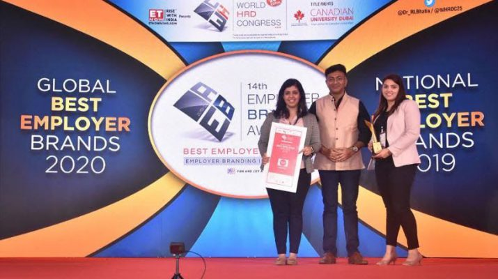Club Factory Bags Award for National Best Employer Brand at World HRD Congress