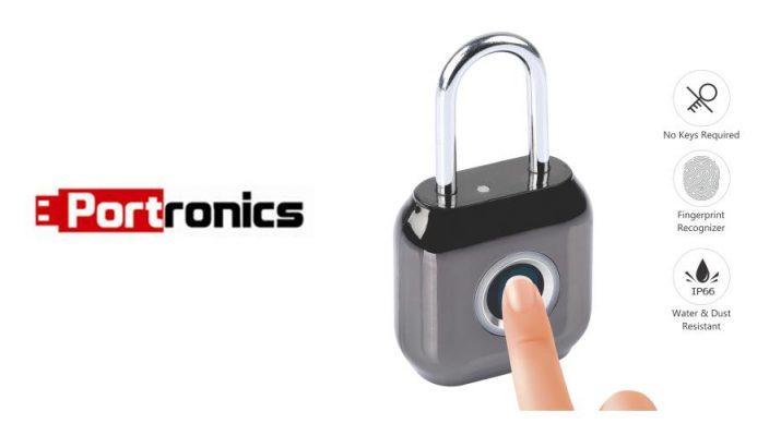 Portronics - Biolock - Smart - Secure and Portable smart biometric padlock
