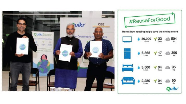 Quikr Helps Save Five Billion Litres of Water and Ten Million Trees Annually