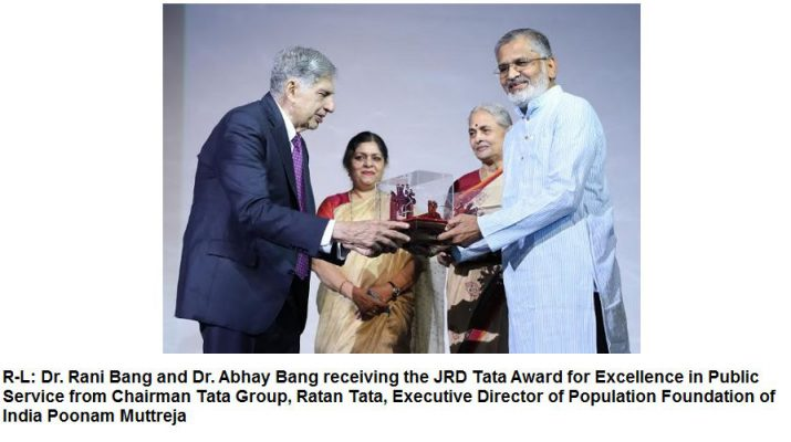 Ratan Tata receiving award at commemoration of the 50th year of Population Foundation of India 2