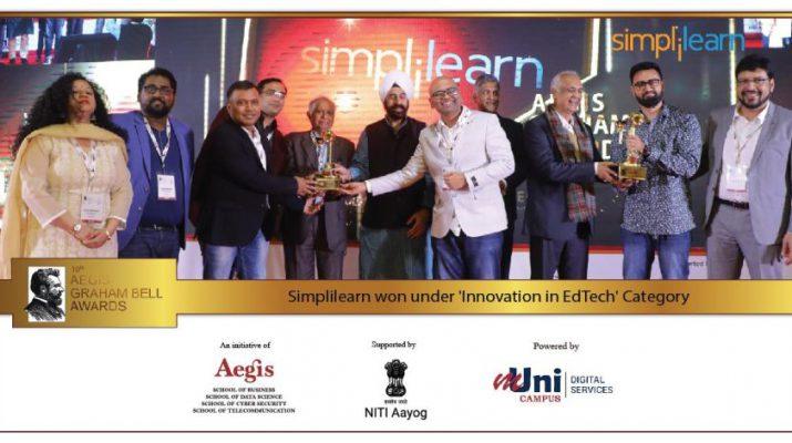 Simplilearn Wins 10th Aegis Graham Bell Award for Innovation in Edtech