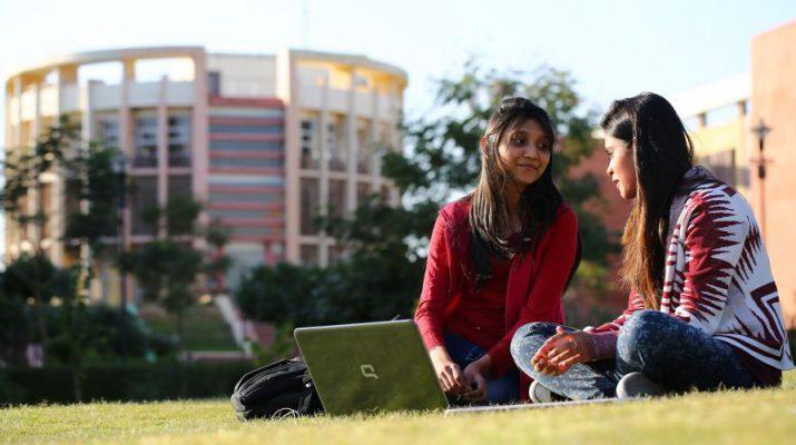 Students at JK Lakshmipat University Campus Picture