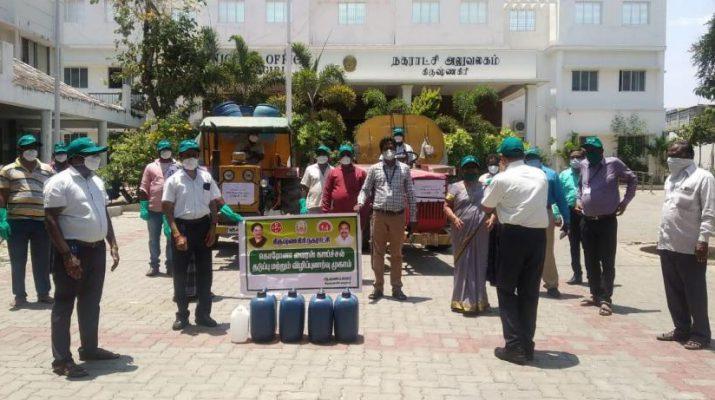 TVS Motor Company Covid19 - Corona Virus outbreak support initiatives - Krishnagiri