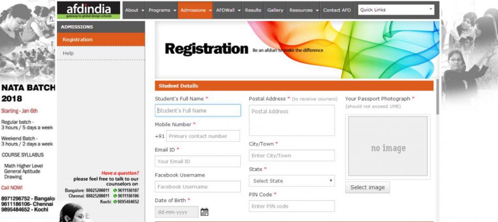 afdindia website homepage