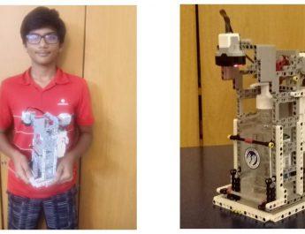14-year-old Bengaluru boy develops 'no-touch hand sanitizer dispenser