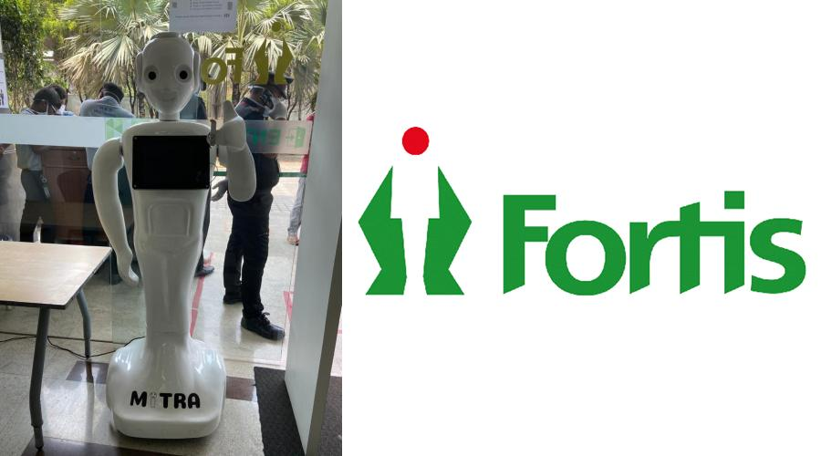 Covid 19 screening Mitra robot introduced by Fortis Hospital - Bannerghatta Road
