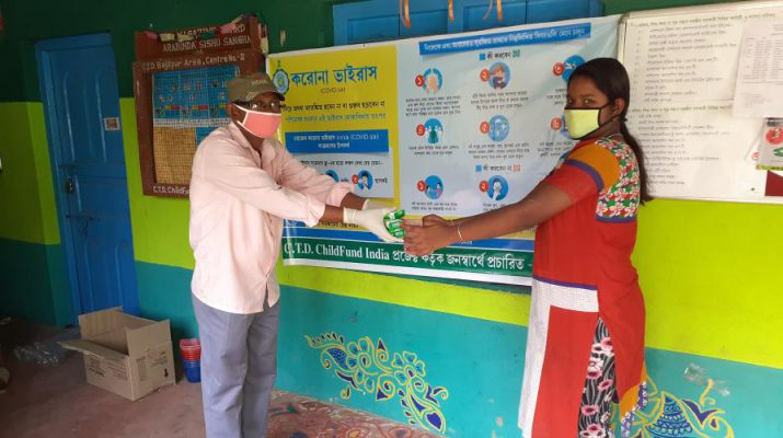 Distribution of Hygiene material