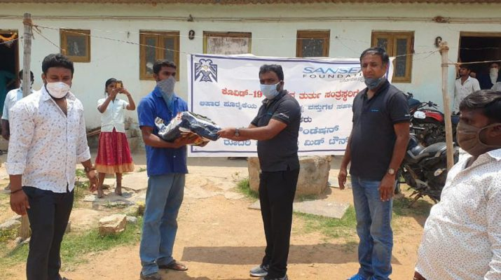 Food Grain kit distribution Sansera