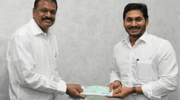 Gangavaram Port Limited contributes Rs. 3 Crore to Andhra Pradesh Chief Minister Relief Fund