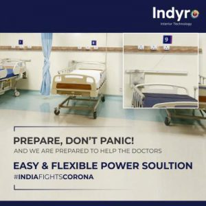 Indyro power track in hospital - Post
