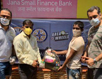 Jana Small Finance Bank distributes food packets