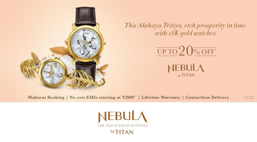 Nebula by Titan - 18k gold watches - Akshaya Tritiya