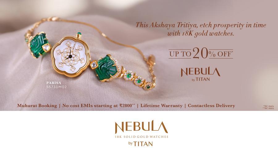 Nebula by Titan - 18k gold watches - Muhurat Booking